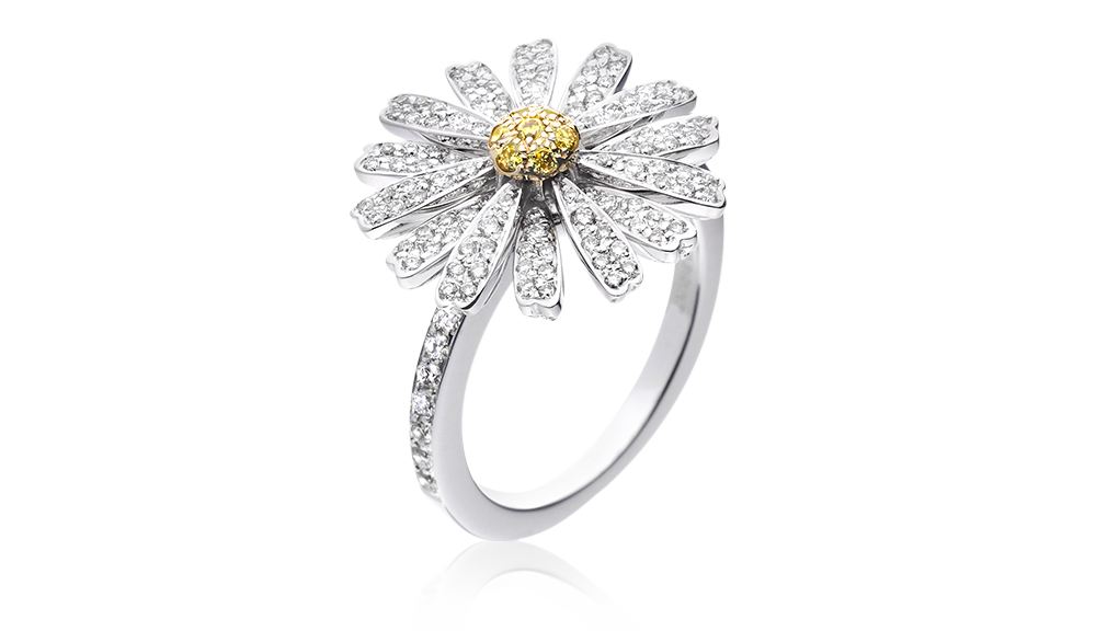 Daisy love ring - tabbah jewelry