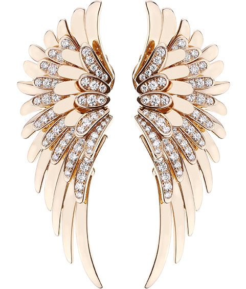 Gold Angel earrings - Angel - Tabbah jewelry