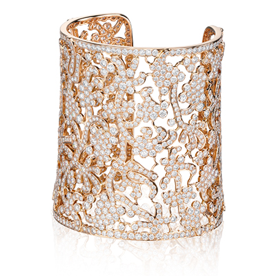 Lace cuff bracelet - grace in lace - tabbah jewelry